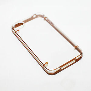 iPhone-4-4s-case-Bumper-Case-Cover-Protective-Crystal-Clear-Hard-Brown