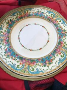 Rare Discounted Wedgwood Dawlish Green Trim Dinner Plate