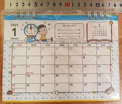 Doraemon Calendar 2021 Licensed Sanrio Japan Small Table Desk desktop kids room