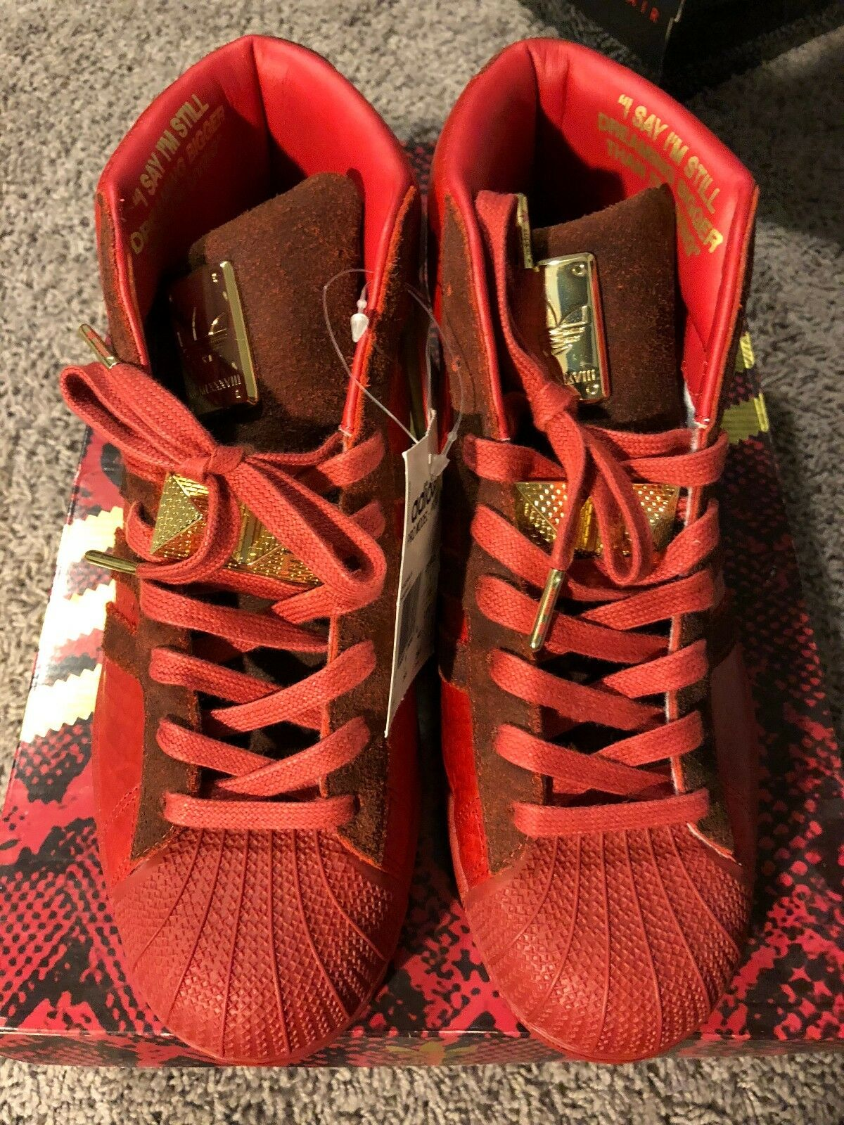 Adidas Original x Big Rojo Sean Detroit jugadores Pro Model Rojo Big comodo a6c2c6