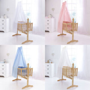 Clair De Lune Cot Crib Cradle Free Standing Drape And Rod Set Ebay
