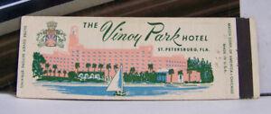 Rare-Vintage-Matchbook-Cover-O1-St-Petersburg-Florida-Vinoy-Park-Hotel-Sailboat