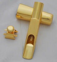 Top new Gold plated Tenor saxophone mouthpiece Metal material B# model size6 7 8