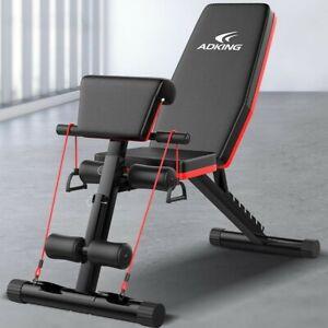 Adjustable Weight Bench Fitness Training Gym Folding Utility Exercise Bench Pres Ebay