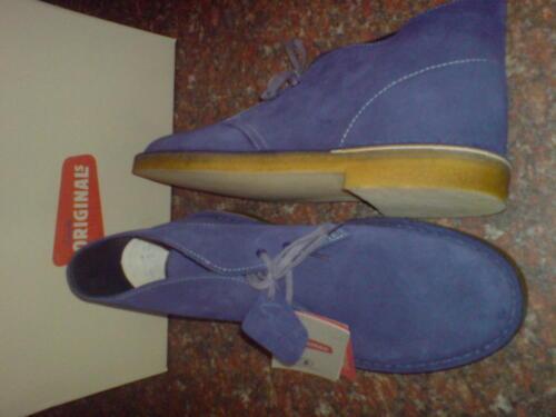 Mens Boots Blue 10 New Clarks Suede Dark Original Uk 10 5 Desert xqCCS71w