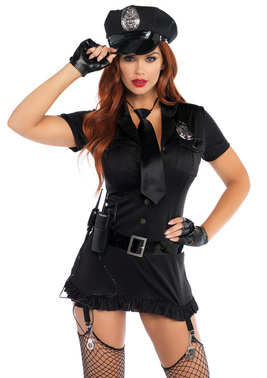 6Pc. Dirty Cop Incl Hat  Dress
