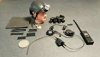 1:6 Zert Blackops Helmet W/ Quad Nvg & Radio Set 12 Gi Joe Dam Soldier Story