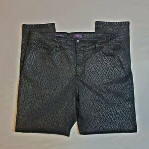 Not-Your-Daughters-Jeans-NYDJ-Alina-Print-Pants-High-Rise-Legging-Diamond-Sz-16