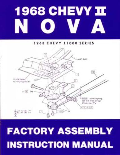 1968 Chevrolet Chevy II Nova Assembly Manual Rebuild Instructions Illustrations