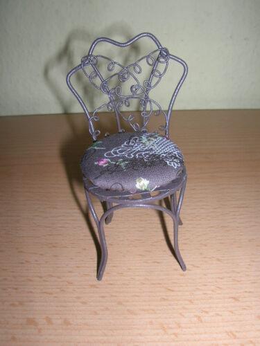 1.807//4 Reutter porzellan Chaise de Jardin//Garden chair poupée 1:12 Art