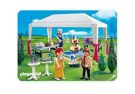 PLAYMOBIL® 4308 Hochzeitsgäste im Partyzelt NEU Wedding Guest in Party Tent NEW