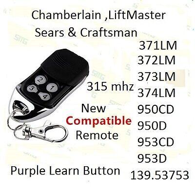 2 For 953D 956D Chamberlain Compatible 3 Btn Garage Door Opener Remote 950CD
