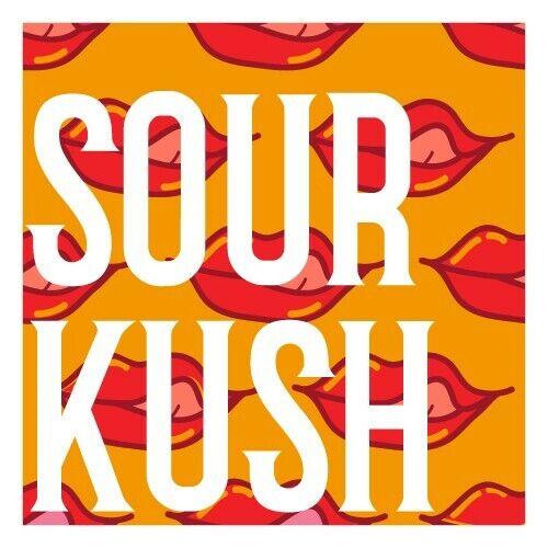 """Sour Kush 60-1.5/"""" vinyl strain art stickers 420 Mix n Match Strains"""