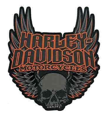 Harley-Davidson Embroidered Skull Mouth Emblem 3XL 10 x 11.25 inch RETIRED!!!