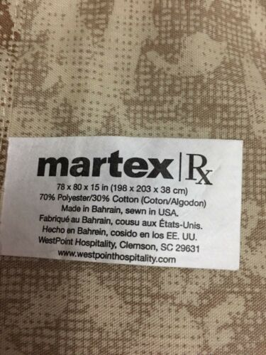 MARTEX BROWN KHAKI or GREEN CHOOSE* KING or QUEEN or FULL Tailored Bed Skirt NEW