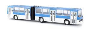 Brekina-59702-Ikarus-280-Articulated-Bus-Blue-White-Bus-Model-1-87-H0
