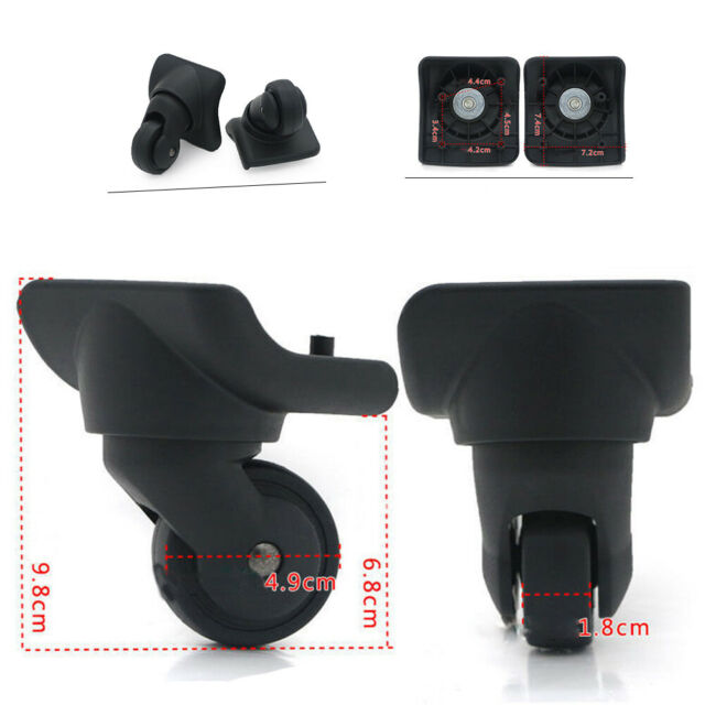 A Set 4 pcs Super Ma 360 Spinner Replacement Luggage Wheel Repairment Mute Swivel Wheels Part for Luggage Suitcase