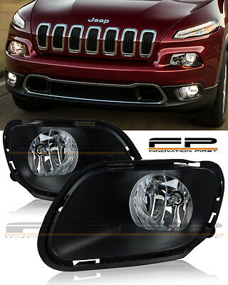 For 2014 2017 Jeep Cherokee Clear Fog Lights Full