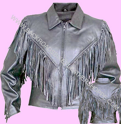Ladies Women/'s Brown Leather Motorcycle Biker Vest Western Sizes XS to 5X