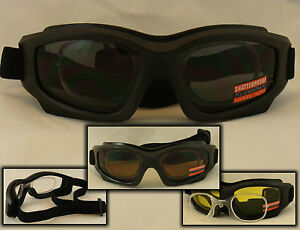 9327454bbe Image is loading MOTORCYCLE-GOGGLES-RX-ADAPTER-PRESCRIPTION-INSERT -CHOICE-LENS-