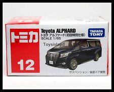 TOMICA #12 TOYOTA ALPHARD 1/65 TOMY 2015 NOV NEW MODEL DIECAST CAR BLACK