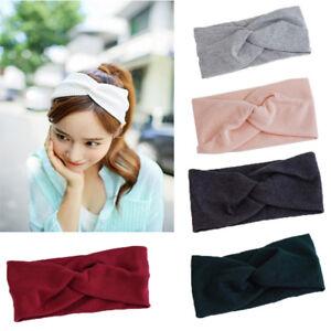Sweet-Femme-Turban-Solide-elastique-Bande-Cheveux-Bateaux-Bandeau-Filles-Dons