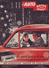 ams 25/1953/Telefunken Autosuper Autoradio/Test: Austin A 40/12.12.53/Geburtstag