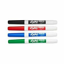 Expo 86074 Low Odor Dry Erase Markers Fine Point Assorted Colors 4 Count 5b
