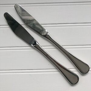 2 Vintage Cromargan WMF Finesse Spain Salad Fork Glossy Stainless Pair Forks