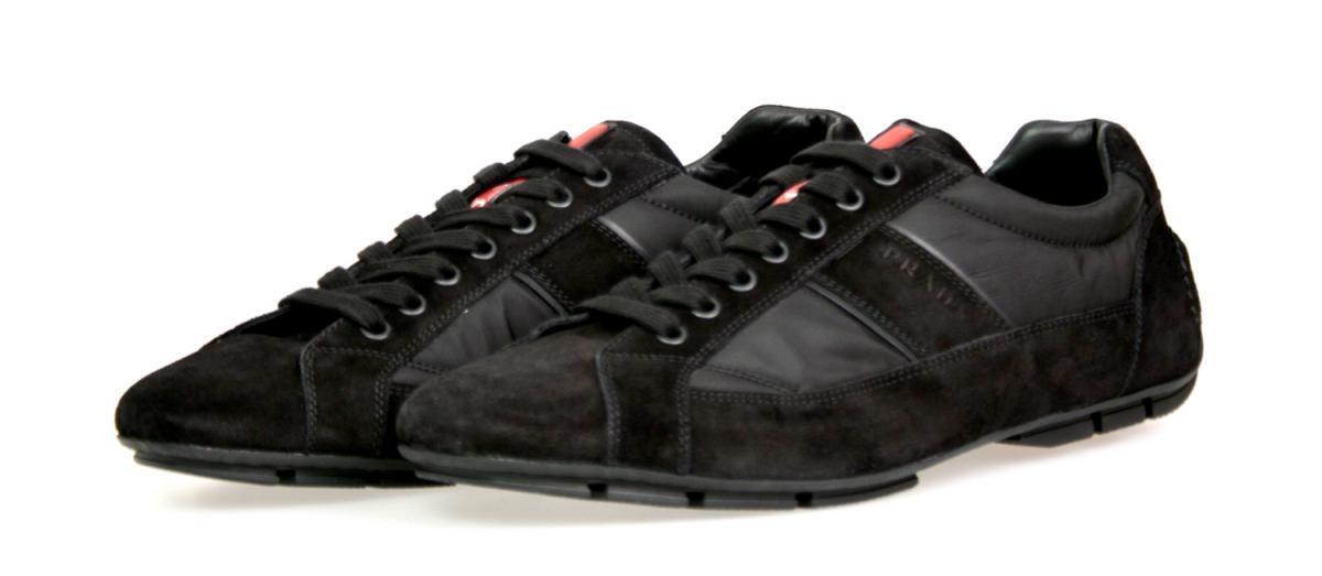 LUSSO PRADA Monte Carlo Sneaker Scarpe 4e2854 NERO NUOVO NEW 7 41 41,5