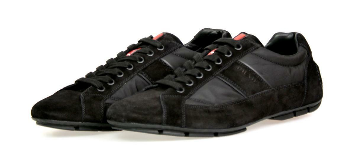 LUXUS PRADA PRADA PRADA MONTE CARLO SNEAKER Zapatos 4E2854 Negro NEU NEW 6 40 40,5 15fe1c
