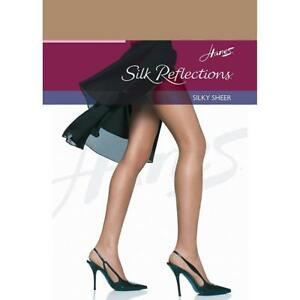 02cc1707db3 2 Vintage Hanes Silk Reflections Silky Sheer Pantyhose Barely There ...