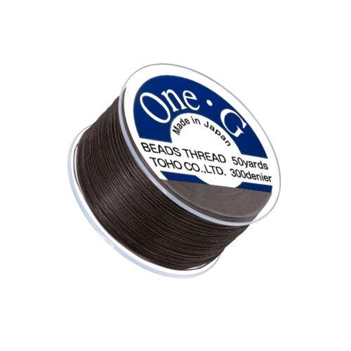 Q109//6 Toho One-G 0.2mm Nylon Beading Thread Brown 50yd Spool