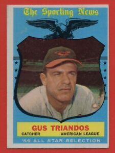 1959-Topps-568-Gus-Triandos-EX-EXMINT-Baltimore-Orioles-All-Star-FREE-SHIPPING