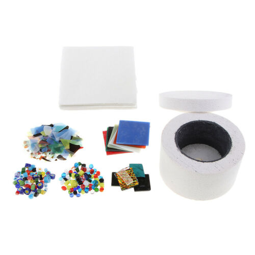 Los Kleine Mikrowellenofen Kit Glas Fusing Handwerk Kunst Werkzeug 7 Teile