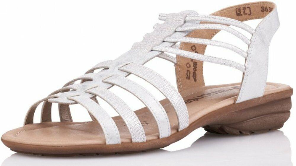 Remonte Damen Sandale Weiß Schuhe Sommer R3630-90