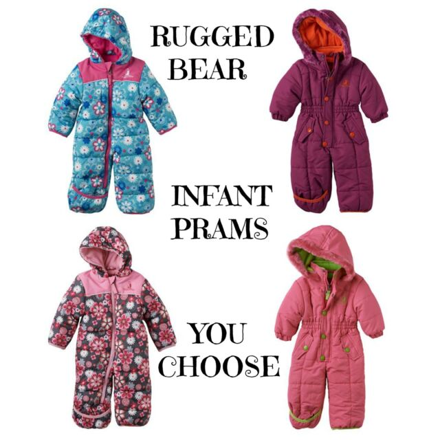 Nwt 80 Rugged Bear Infant Pram Snowsuit Coverall Bunting 0 3 6 9 Mo