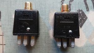 Quad-II-Jones-6-pin-to-RCA-phono-adaptor-one-pair-Gold-plated-phono-socket