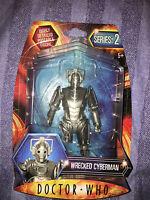 Doctor who wrecked  Cyberman  series 2  five inch  figure