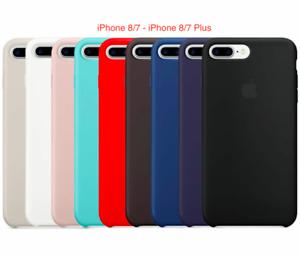 Apple-iPhone-8-7-SE-2020-8-7-Plus-Echt-Original-Silikon-Huelle-Silicone-Case