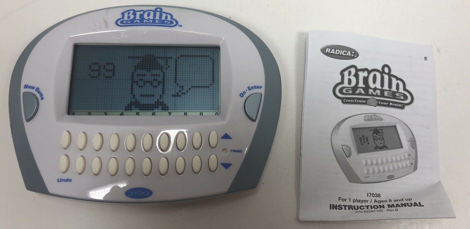 Radica Brain Games Electronic Handheld Game Improve Memory Brain Health