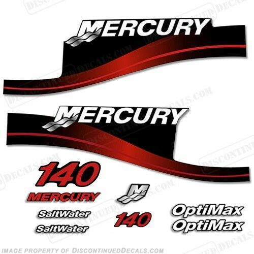 Mercury 140hp Outboard Decal Kit 140 140 140 Blau or ROT 1999-2004 -All Models Available 000a38