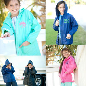 9ce6749a4fb9 VIV   LOU PERSONALIZED MONOGRAM YOUTH CHILD S RAIN JACKET COAT for ...