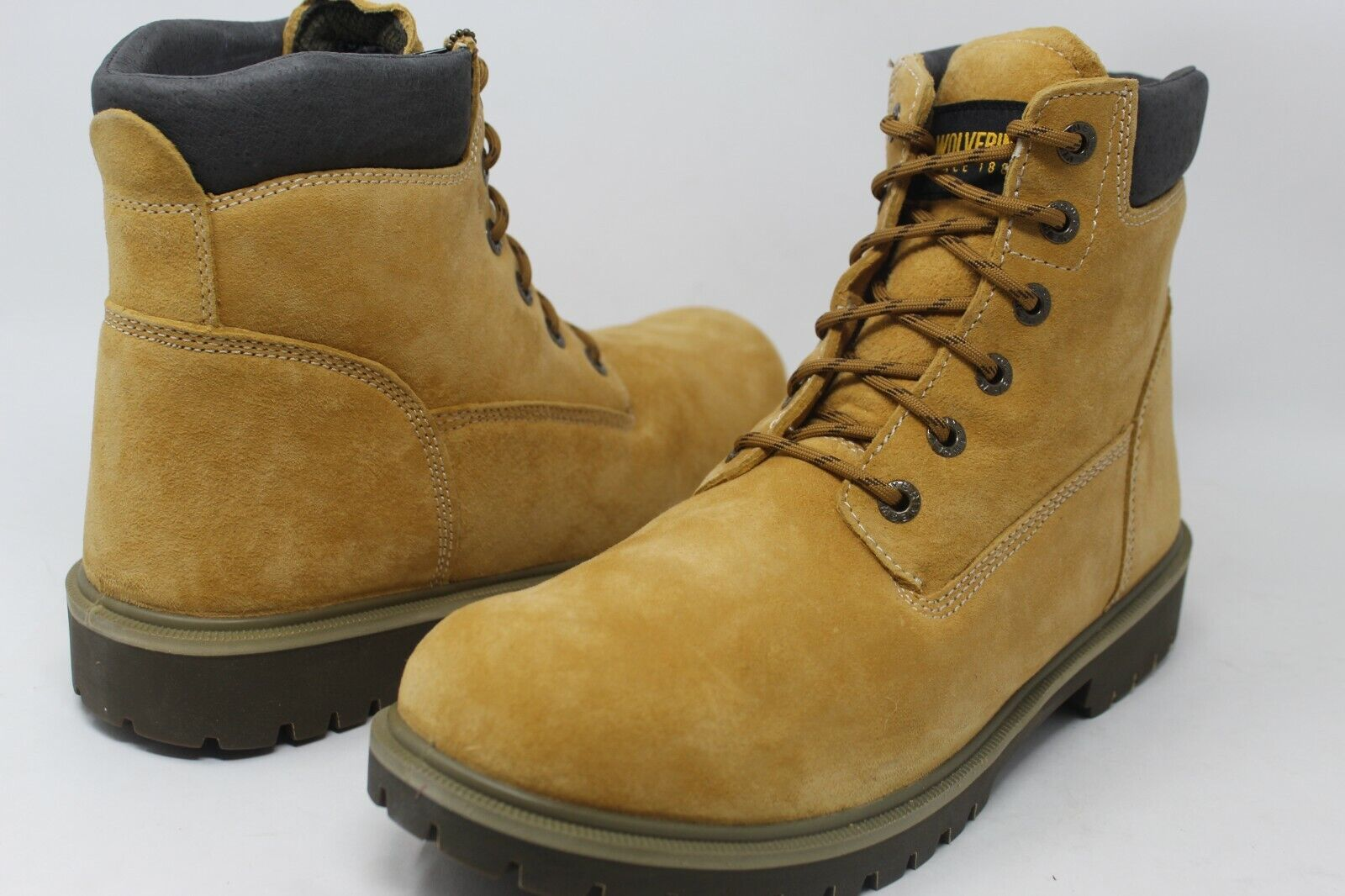 """Wolverine Men's Insulated 6"""" #84954 Gold Leather Waterproof Boot Size 12"""