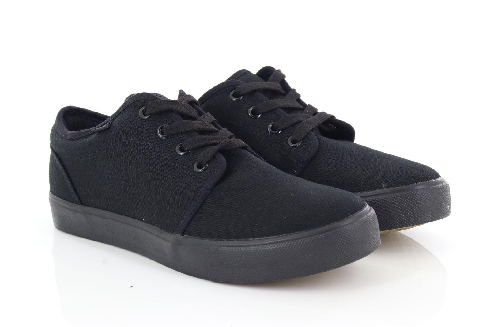 Dek Ted Entièrement Noires 4 Oeil Pont Lacet Chaussures D'Été en Toile