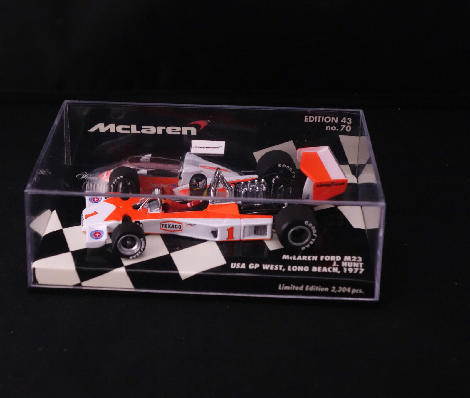 Minichamps F1 Mc Laren Ford M23 Hunt Ed 43 n°70 1977 1 43  boxed   en boîte MIB
