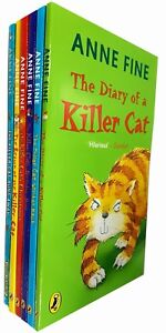 Anne-Fine-The-Killer-Cat-Collection-6-Books-Set-Pack-Diary-of-a-Killer-Cat-NEW