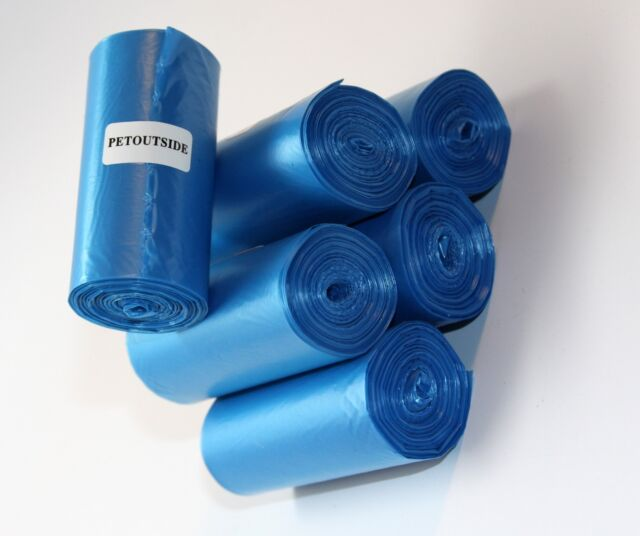 300 DOG PET WASTE POOP BAGS 15 BLUE REFILL ROLLS CORELESS PLUS DISPENSER FREE
