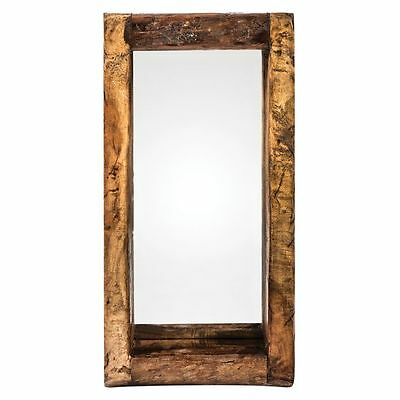 NEW Casa Uno Recycled Wood Oil Pot Wall Mirror