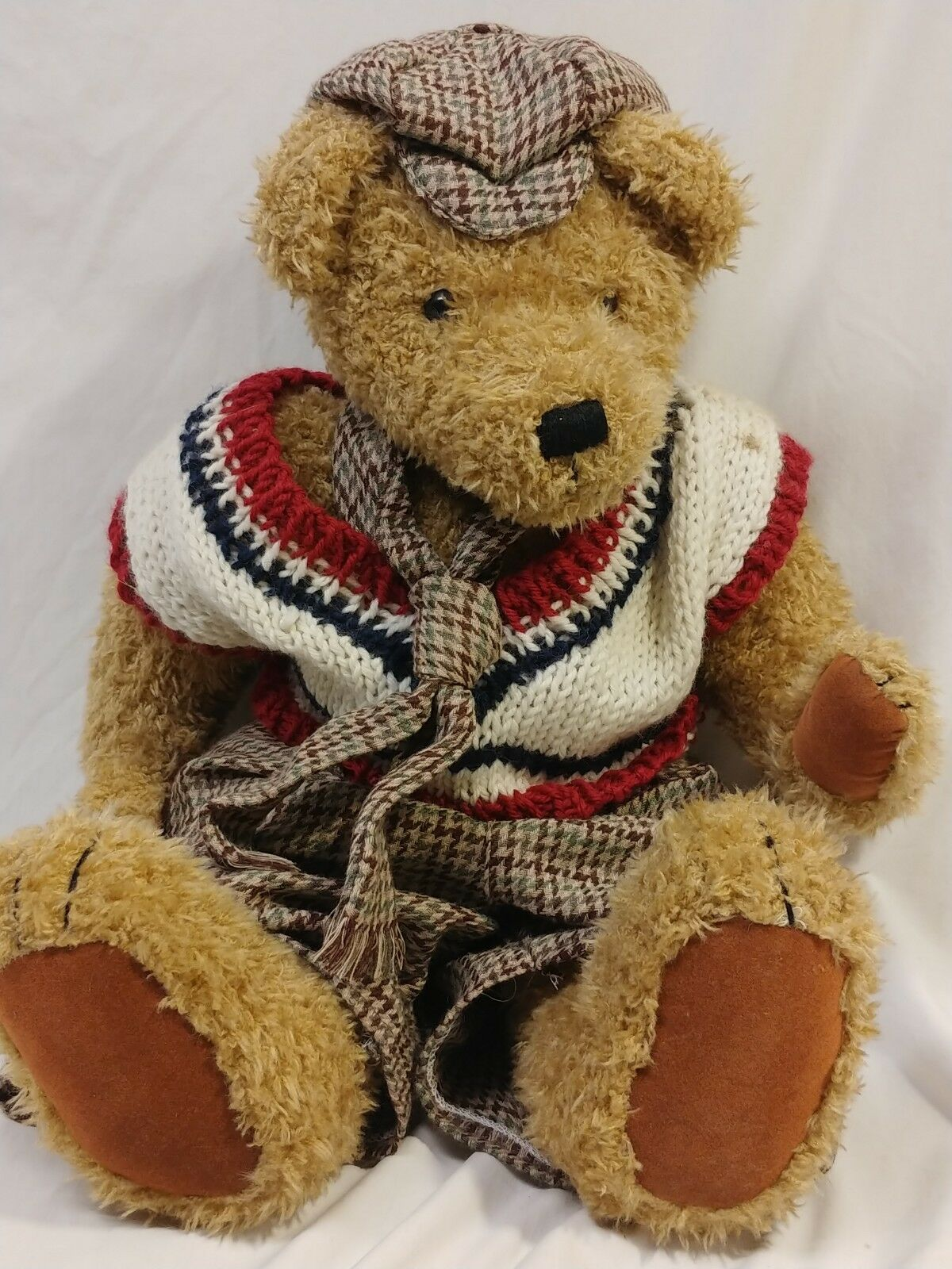 Vintage Handmade Teddy Bear 18  Musical Jointed